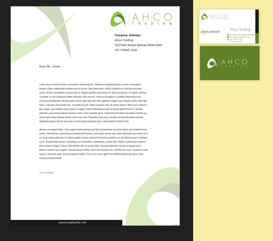 Inscrição nº 22 do Concurso para Ahco Trading - Business Card & Letterhead Template