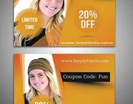 #37 untuk Design a 20% OFF coupon oleh sanaullahsayem