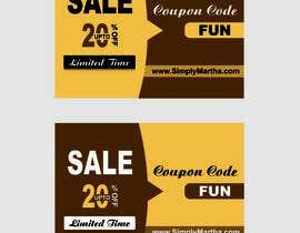 #20 untuk Design a 20% OFF coupon oleh Shrey0017
