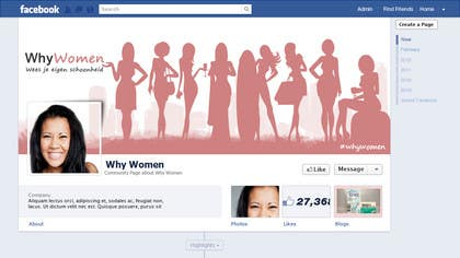 #15 for Design a Facebook landing page for whywomen.nl by herick05