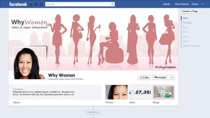 #16 for Design a Facebook landing page for whywomen.nl by herick05