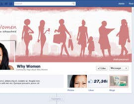 #18 for Design a Facebook landing page for whywomen.nl af herick05