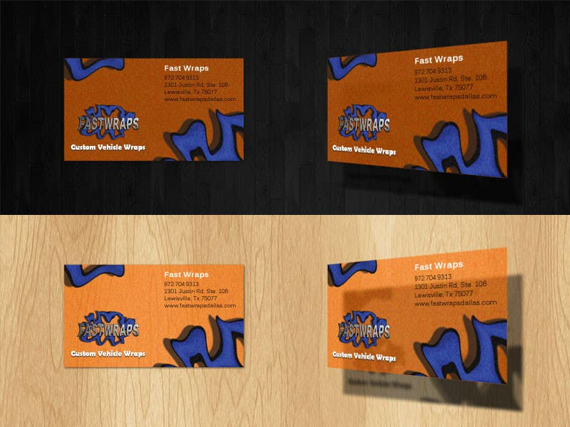 #13 for Design some Business Cards for Car Wrap Business by SapanaParkhi