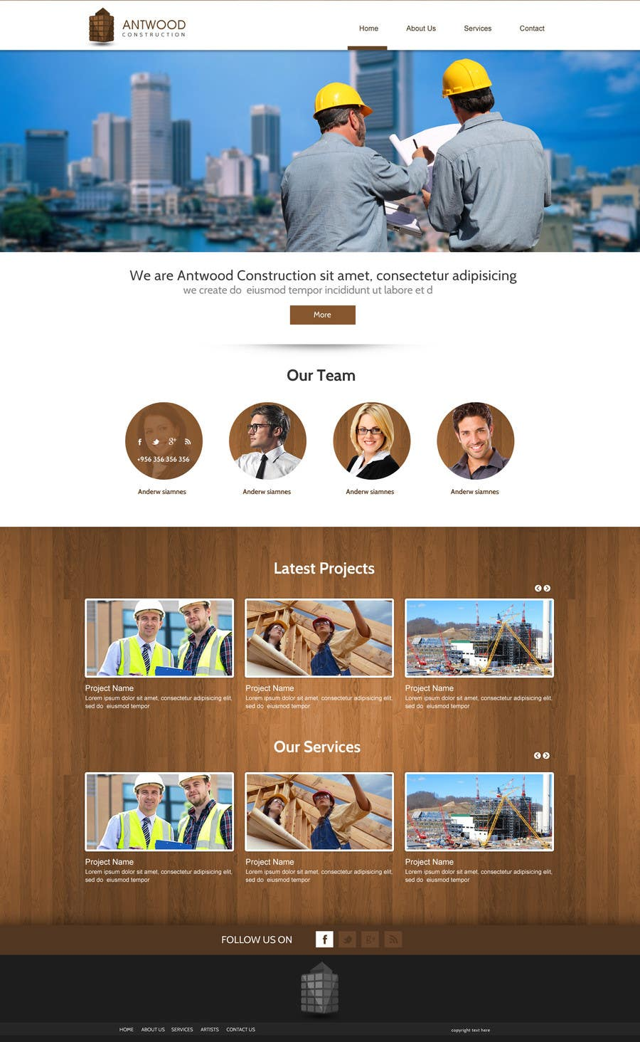 #16 for Build a Website for Antwood Construction by SadunKodagoda