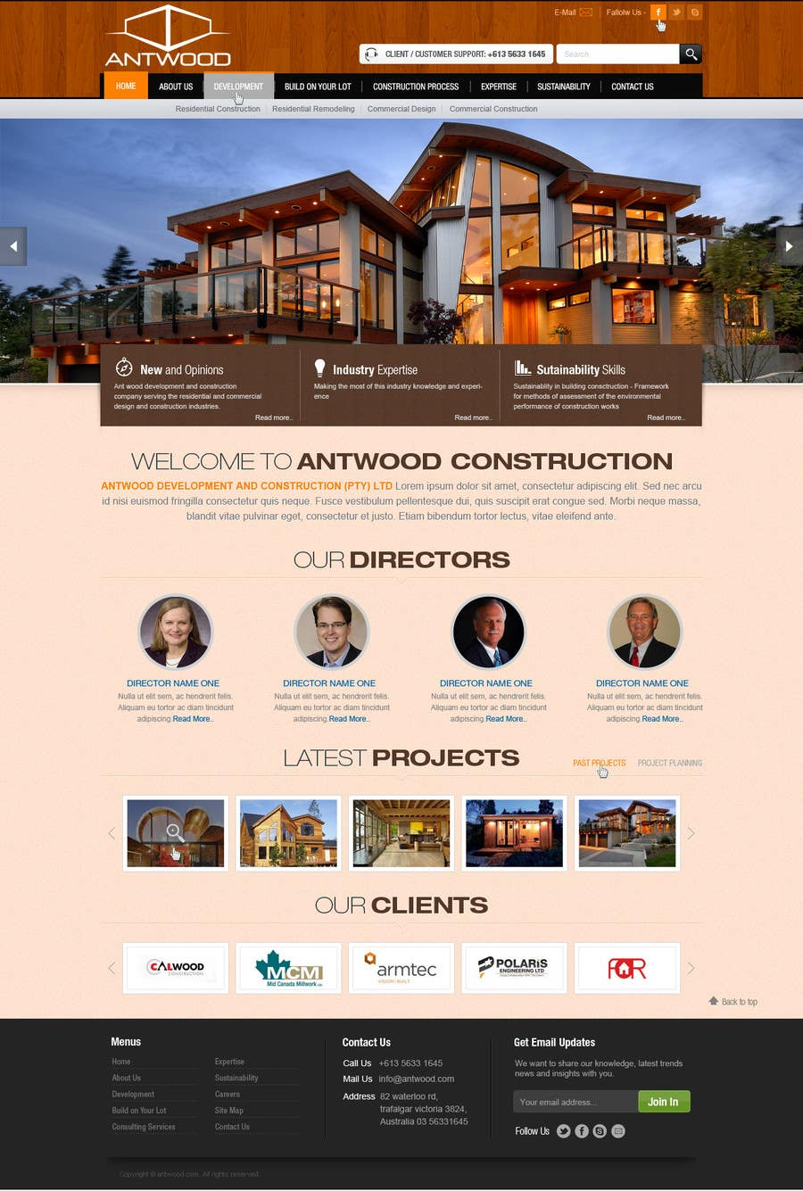 Contest Entry #25 for Build a Website for Antwood Construction