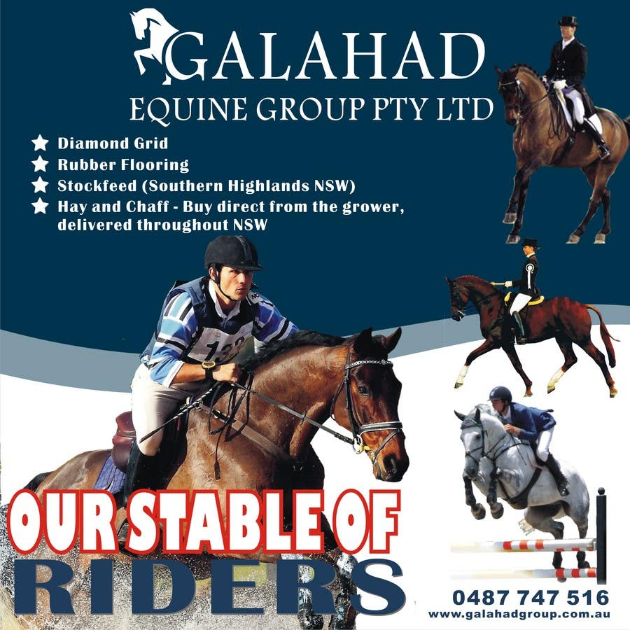 Inscrição nº 38 do Concurso para Graphic Design for Galahad Equine Group Pty Ltd