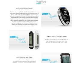 kumarsravan031 tarafından Design a WebGluco RX Websitesite Mockup için no 5