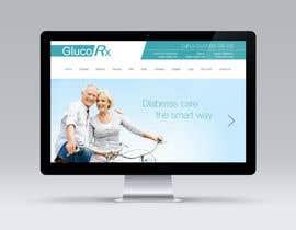 Atutdesigns tarafından Design a WebGluco RX Websitesite Mockup için no 57