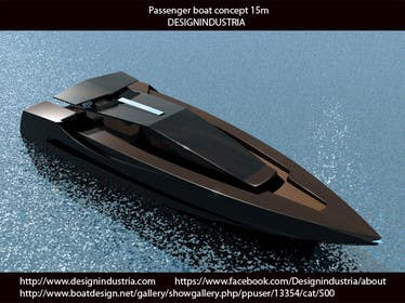 3D Modelling Contest Entry #11 for Concept Boat Design - 1 concept only