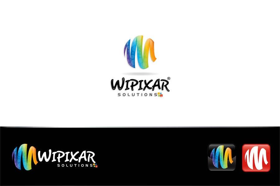 Penyertaan Peraduan #78 untuk Wipixar Solutions Logo Design