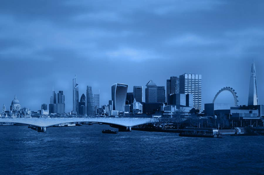 #24 for Create a composite landing page image of the London financial skyline by vinu91