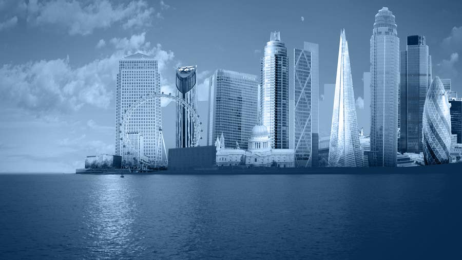 #13 for Create a composite landing page image of the London financial skyline by nishankumar