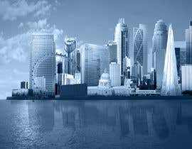 nº 46 pour Create a composite landing page image of the London financial skyline par nishankumar