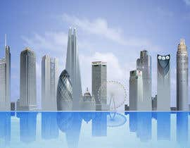#49 untuk Create a composite landing page image of the London financial skyline oleh jingguo811