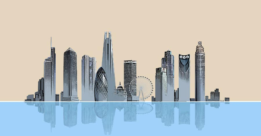 #37 for Create a composite landing page image of the London financial skyline by redmapleleaves