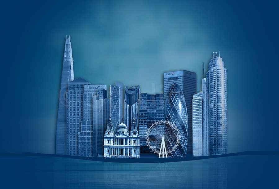 #22 for Create a composite landing page image of the London financial skyline by awaisinayat