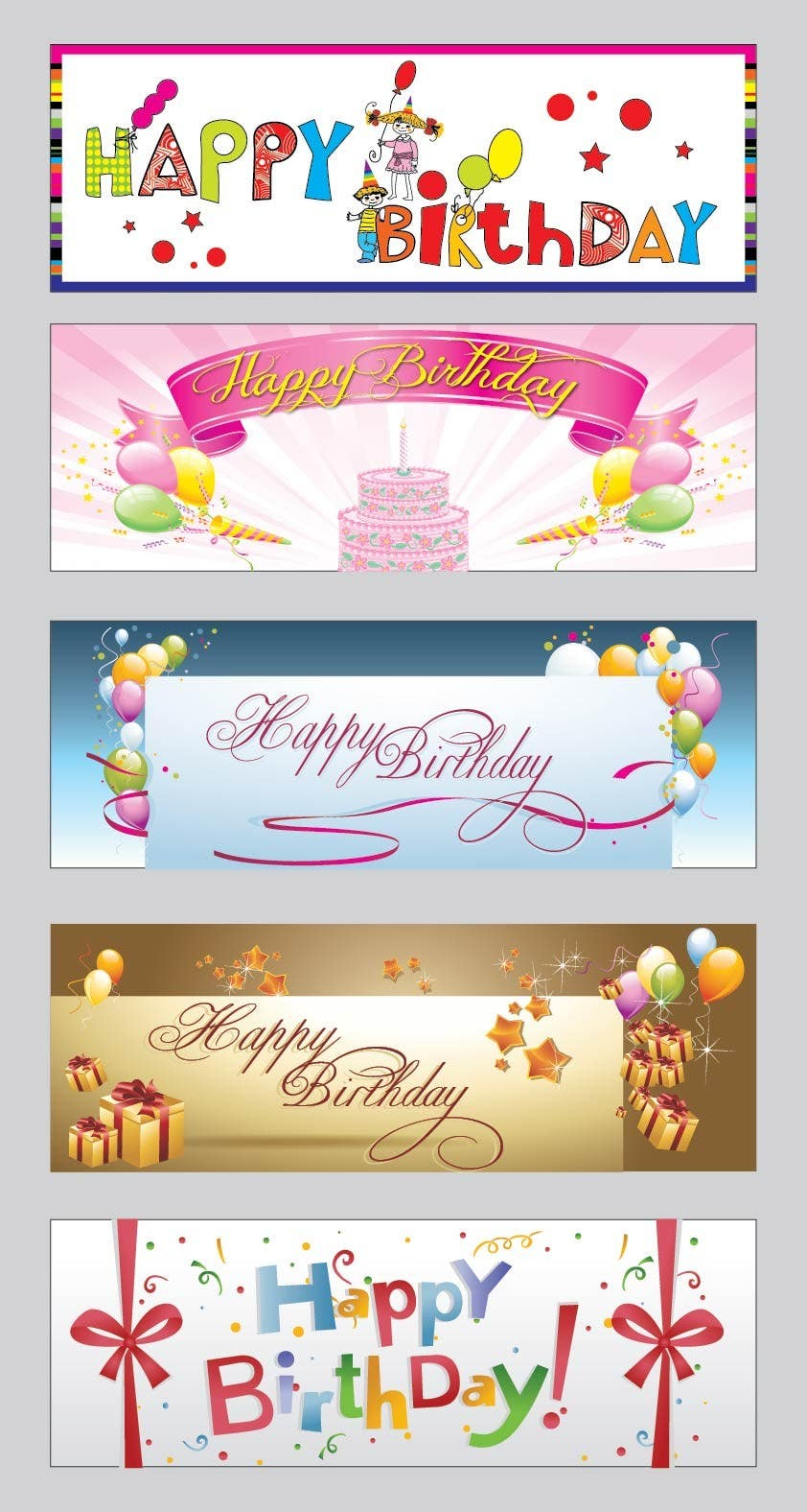 #5 for i need 5 designs for birthday banners by dalvimanish