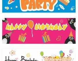 #13 for i need 5 designs for birthday banners af zlatituu