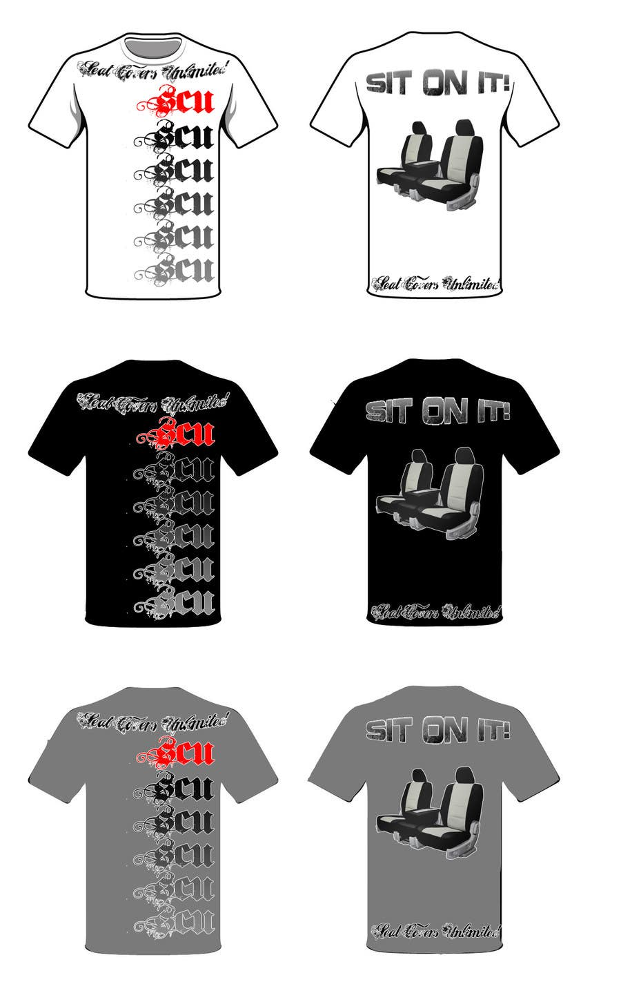 #3 for Logo Design for Seat Covers Unlimited T-Shirts by gomezba472