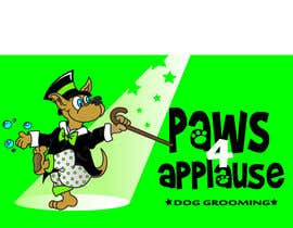 #98 para Logo Design for Paws 4 Applause Dog Grooming por Designsthatshine