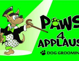#82 untuk Logo Design for Paws 4 Applause Dog Grooming oleh Designsthatshine