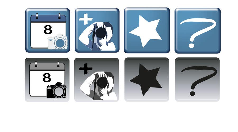 #7 for Design four Icons for a Photography Website by Hannahrachael