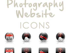 #15 untuk Design four Icons for a Photography Website oleh ronimccullum