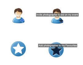 #16 untuk Design four Icons for a Photography Website oleh nigiiqbal