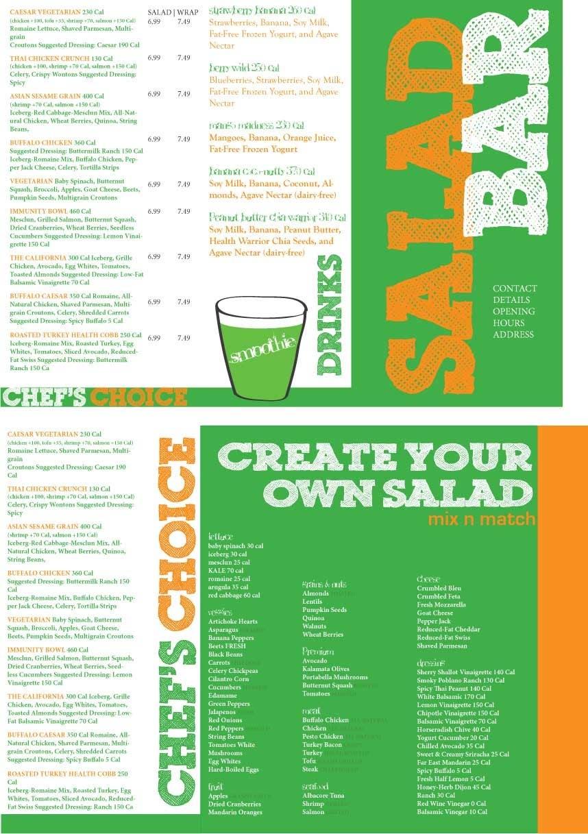 Bài tham dự cuộc thi #                                        3                                      cho                                         I need some Graphic Design for Salad bar Menu