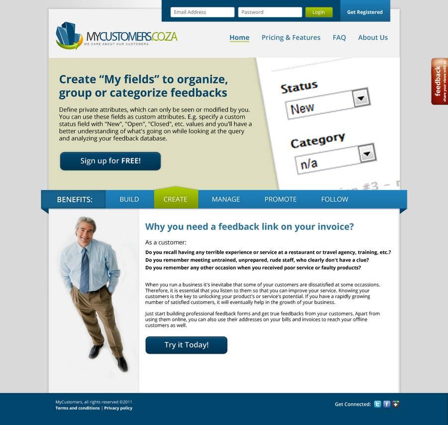 Конкурсная заявка №31 для Website Design for MyCustomers.co.za