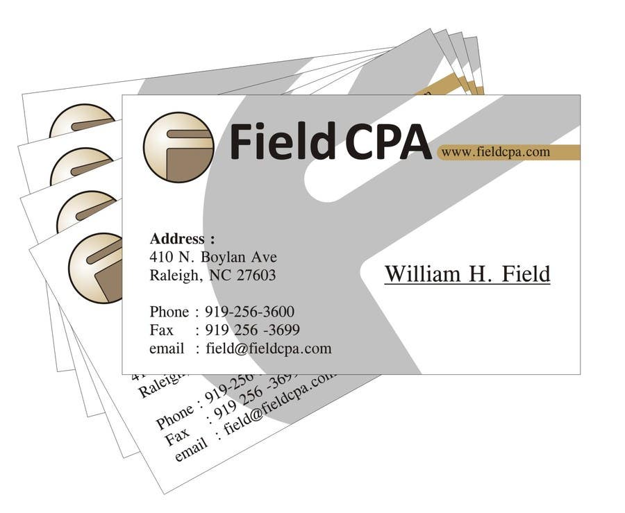 #40 for Business Card Logo Design for FIELD CPA by aduh165