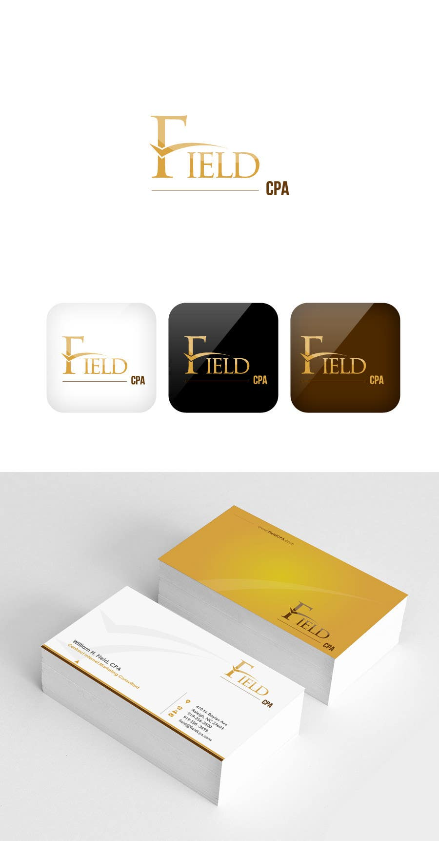 #57 for Business Card Logo Design for FIELD CPA by FareehaZ