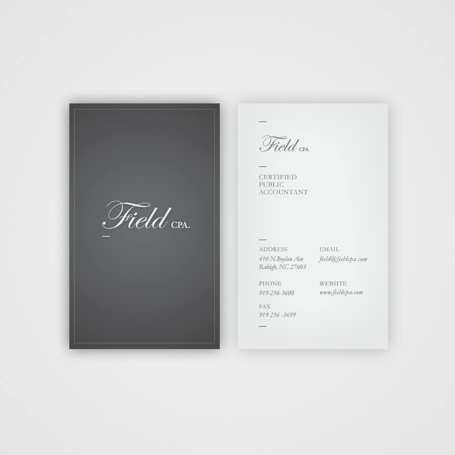 #32 for Business Card Logo Design for FIELD CPA by pickinstudio