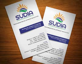 #11 for Business Card Design for SUDIA (Aka Sudanese Development Initiative) by StrujacAlexandru