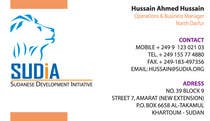 Graphic Design Contest Entry #57 for Business Card Design for SUDIA (Aka Sudanese Development Initiative)