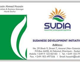 nº 109 pour Business Card Design for SUDIA (Aka Sudanese Development Initiative) par kitli