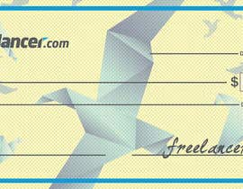 nº 19 pour Design a novelty check for Freelancer.com par QCB