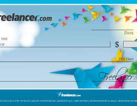 nº 10 pour Design a novelty check for Freelancer.com par GeorgeOrf