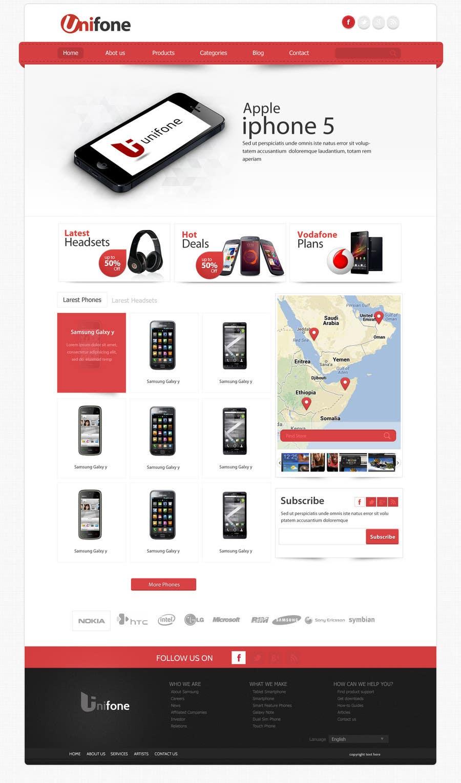 Design a strongly branded Mobile Phone Content Website için 89 numaralı Yarışma Girdisi