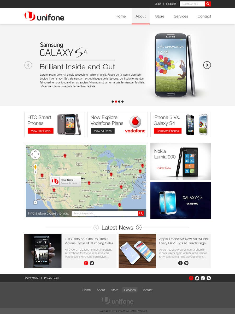 #61 for Design a strongly branded Mobile Phone Content Website by elshahat