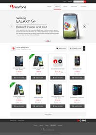 #63 for Design a strongly branded Mobile Phone Content Website by elshahat