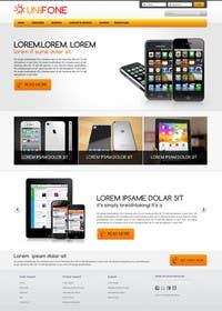#90 for Design a strongly branded Mobile Phone Content Website by designgallery87