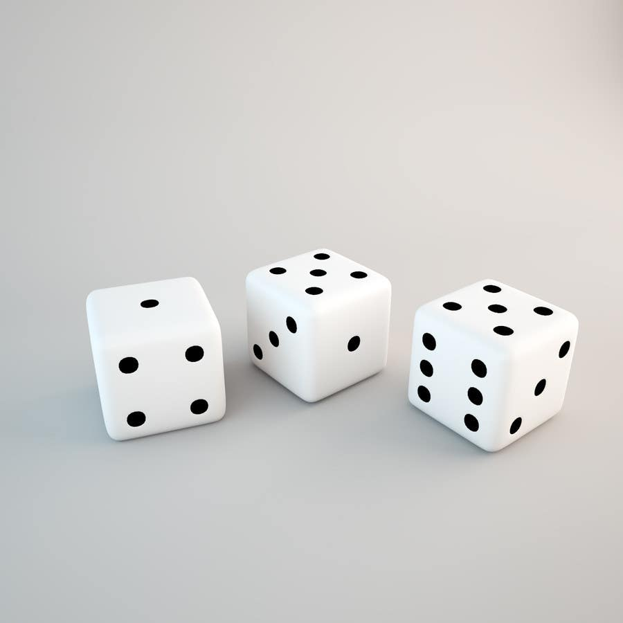Contest Entry #12 for Set of realistic Dices