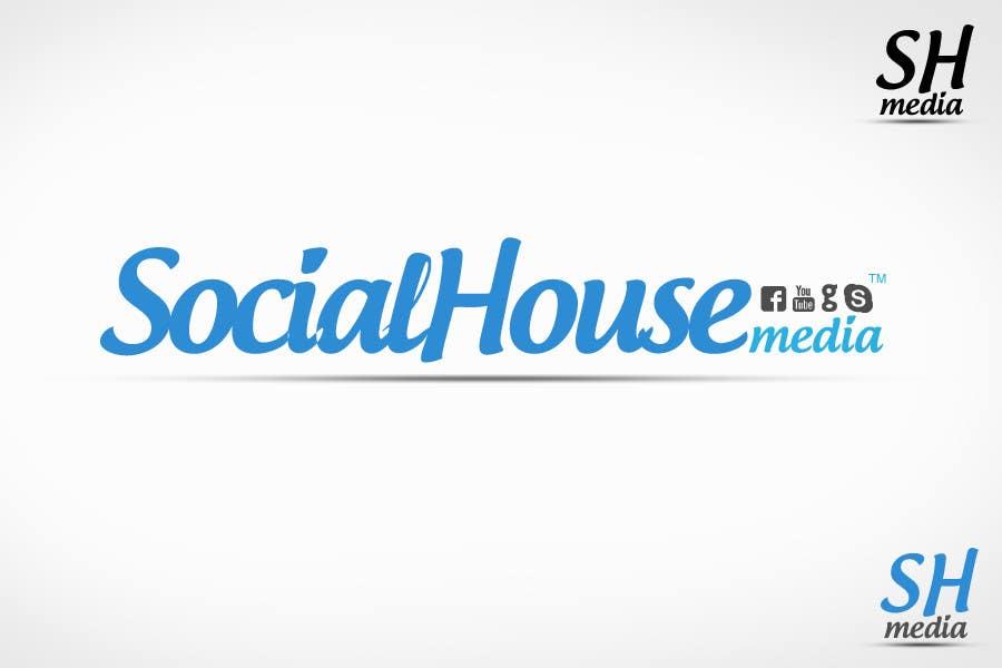 Penyertaan Peraduan #423 untuk Logo Design for Social House Media