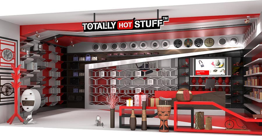 #5 for 3D Interior Design For A Novelty Lifestyle & Gifts Retailer Shop by artdesignfusion
