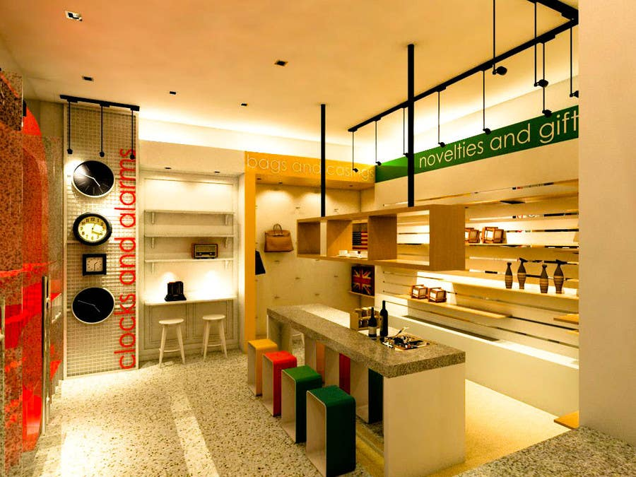 #9 for 3D Interior Design For A Novelty Lifestyle & Gifts Retailer Shop by walkingprimate