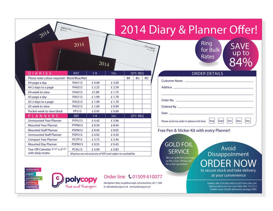#22 for 2014 Diary flyer by Yammyboy