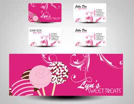 #127 para Business Card & Facebook Banner for Lyn's Sweet Treats por mamem