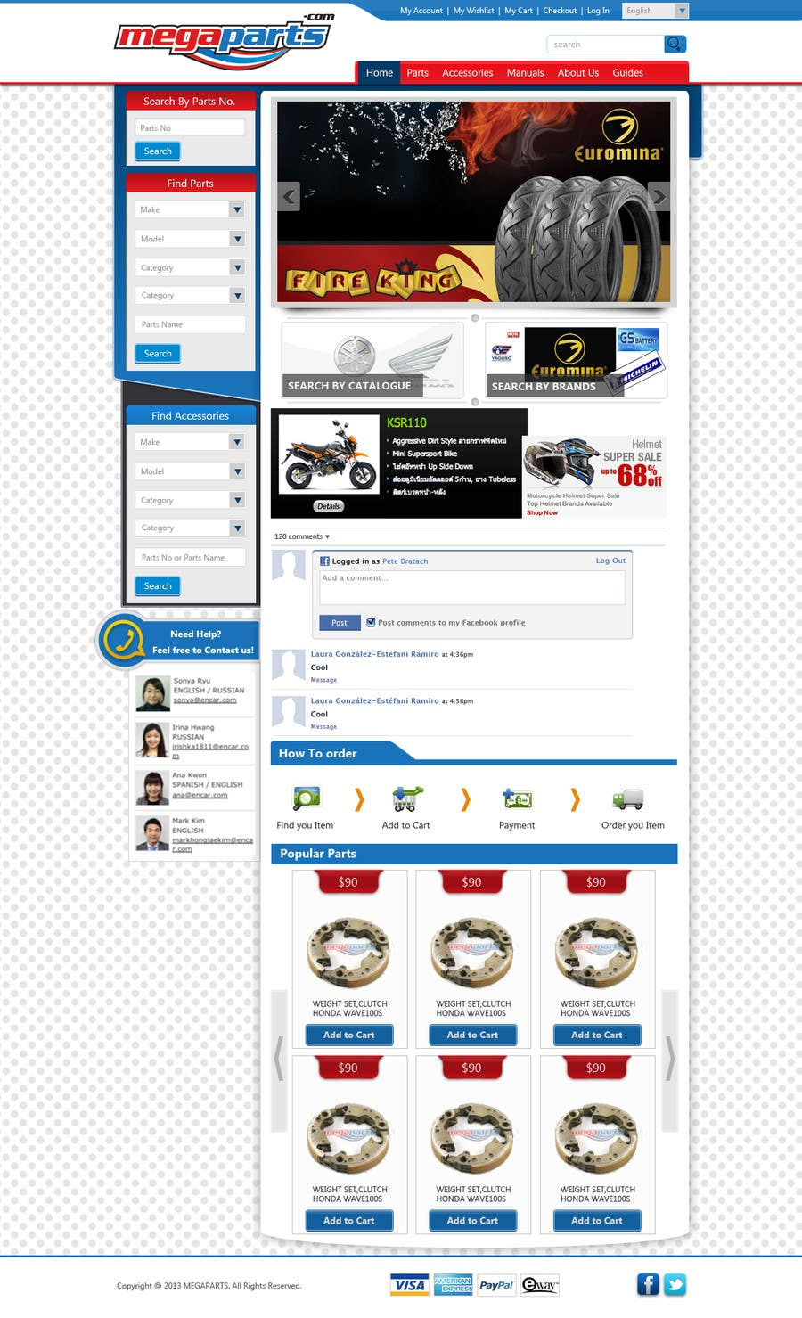 #11 for Design a Website Mockup for megaparts.com by riopratama
