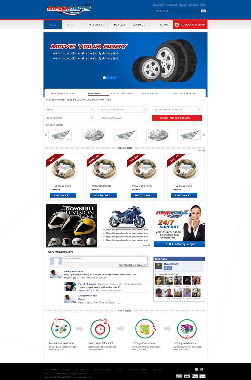 #23 for Design a Website Mockup for megaparts.com by shankardesigner